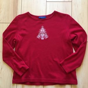 Christmas Long Sleeve tee petite medium